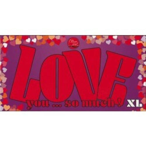 Voor Jou! Voor Jou! Chocolade Reep XL Love You So Much