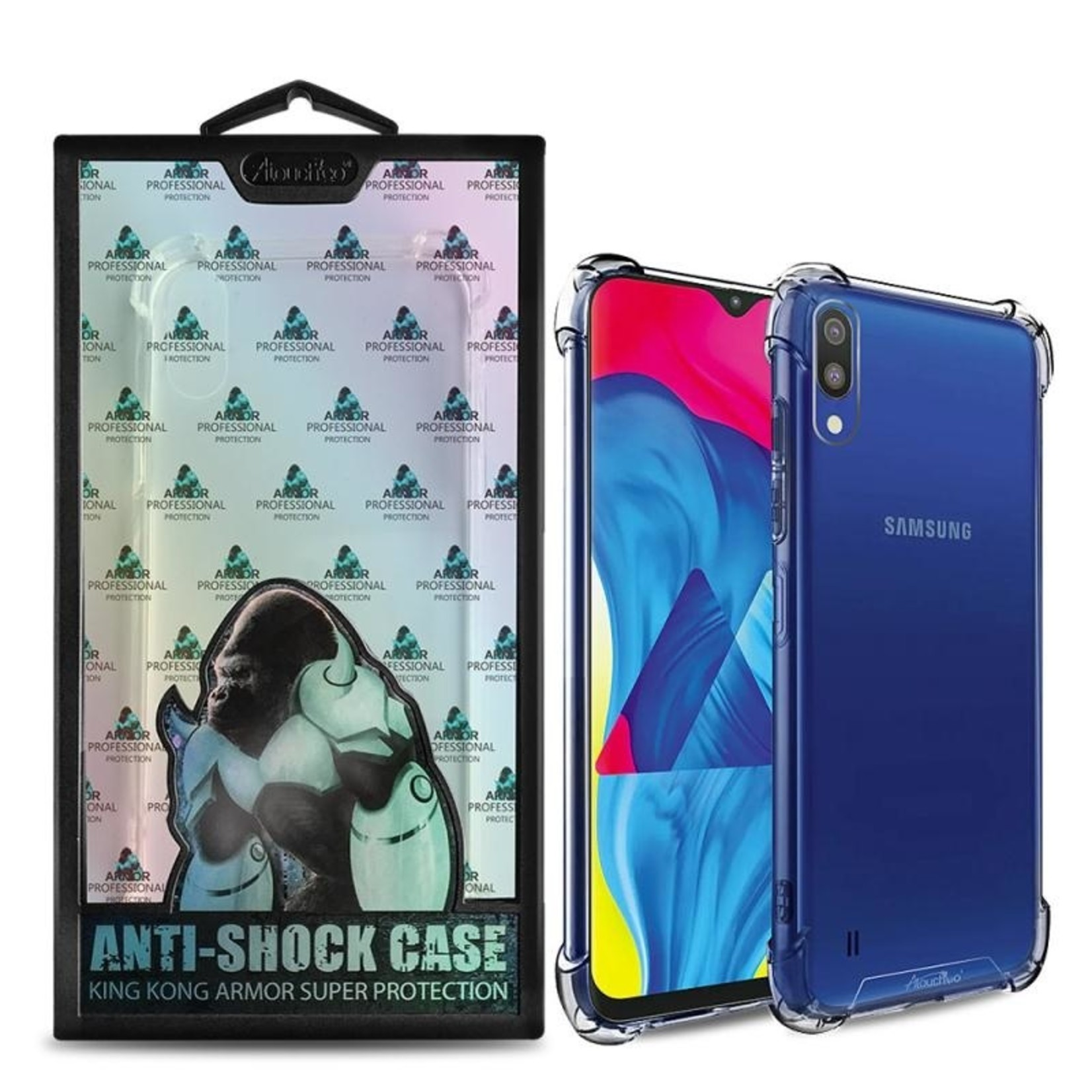 Atouchbo Backcover Anti-Shock TPU + PC voor Samsung M10 Transparant