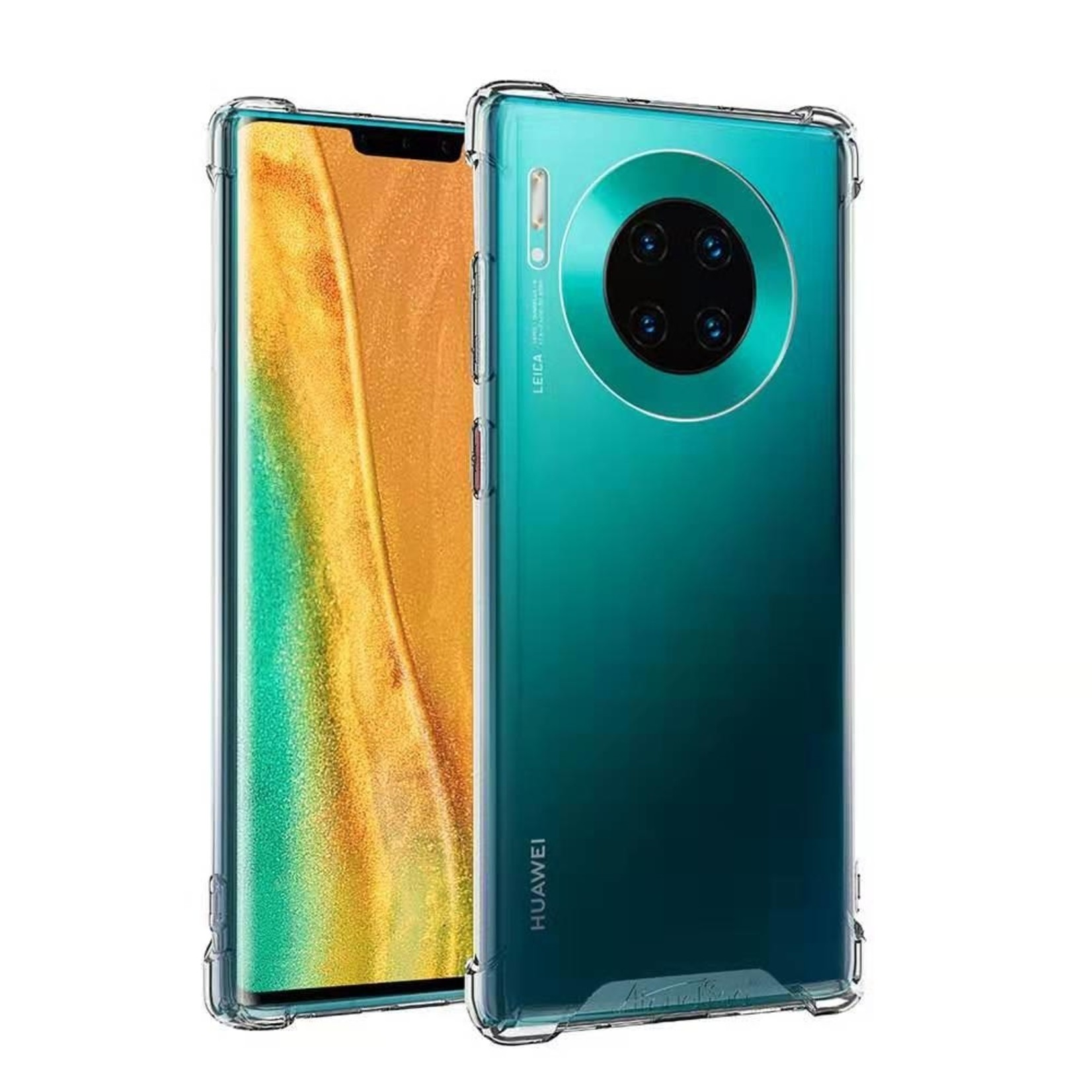 Atouchbo Backcover Anti-Shock TPU + PC voor Huawei Mate 30 Transparant