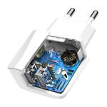 Baseus Mini Dual-USB Reislader Wit