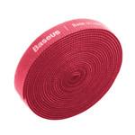 Baseus Velcro Strap 3 meter Rood