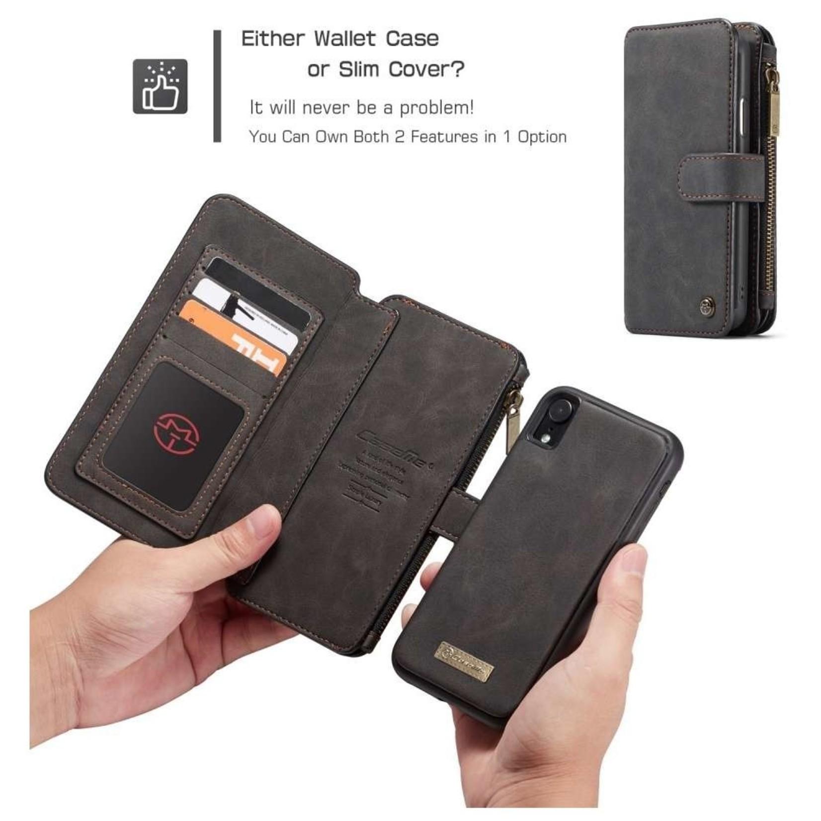 CaseMe 2 in 1 Zipper Wallet voor iPhone 11 Pro Zwart