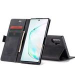 CaseMe Retro Wallet Slim voor Note 10 Plus Zwart