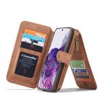CaseMe 2 in 1 Zipper Wallet voor S20 Bruin