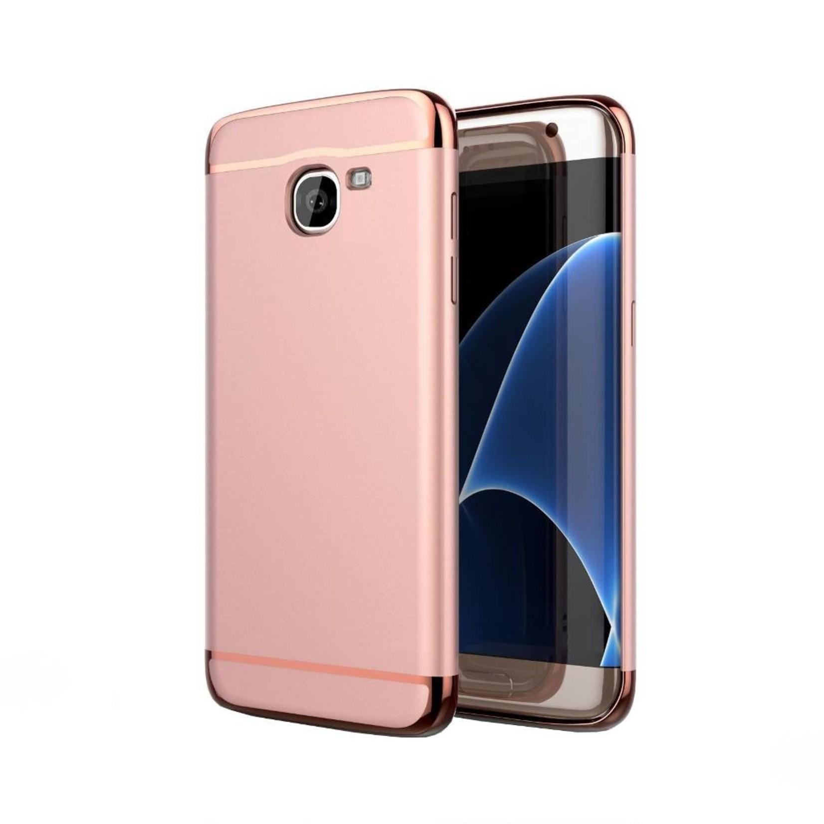 Colorfone BackCover 3-in-1 voor Samsung J7 Roze+Rosé Goud