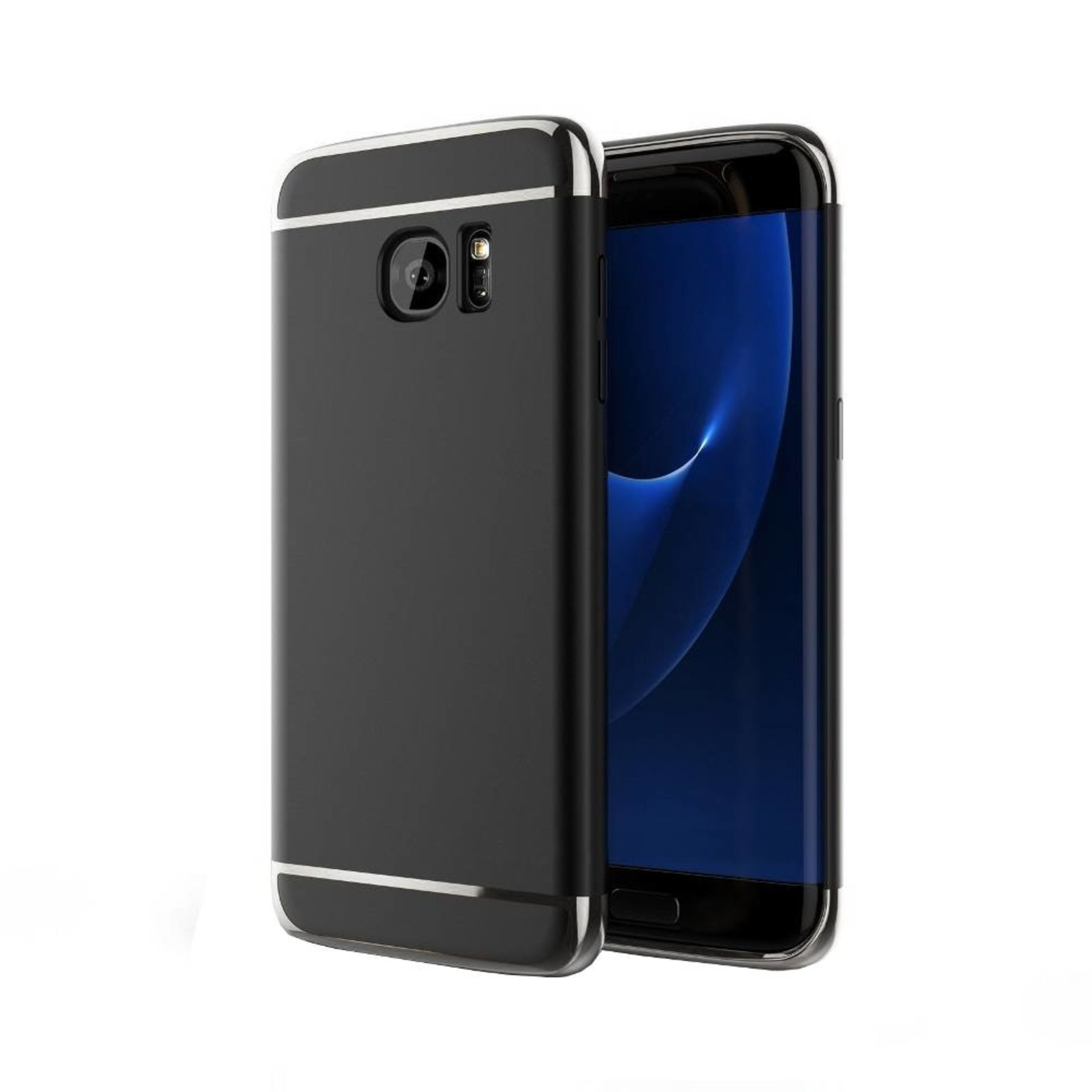 Colorfone BackCover 3-in-1 voor Samsung Galaxy S7 Zwart+Zilver