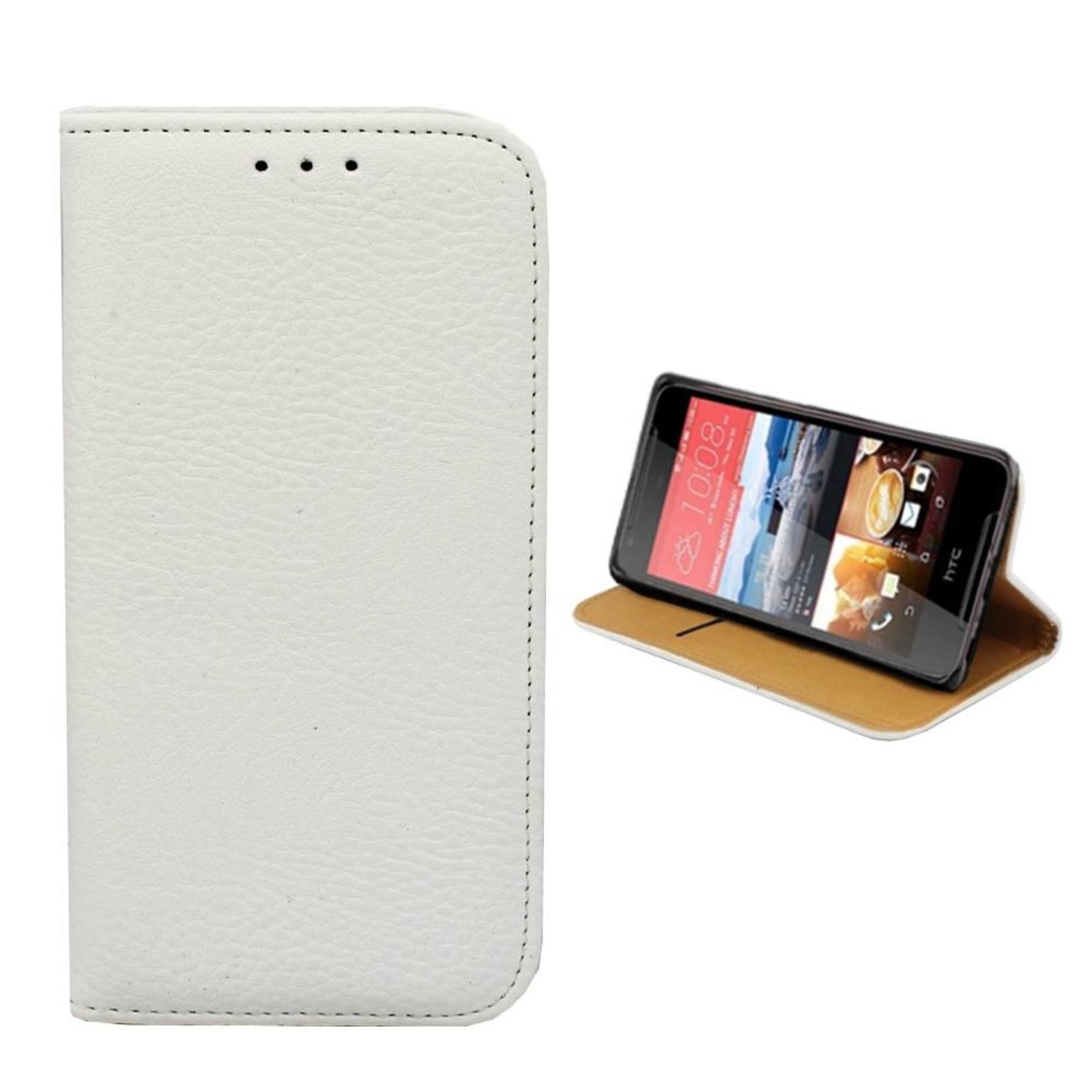 Colorfone Hoesje Book voor HTC Desire 628 Wit