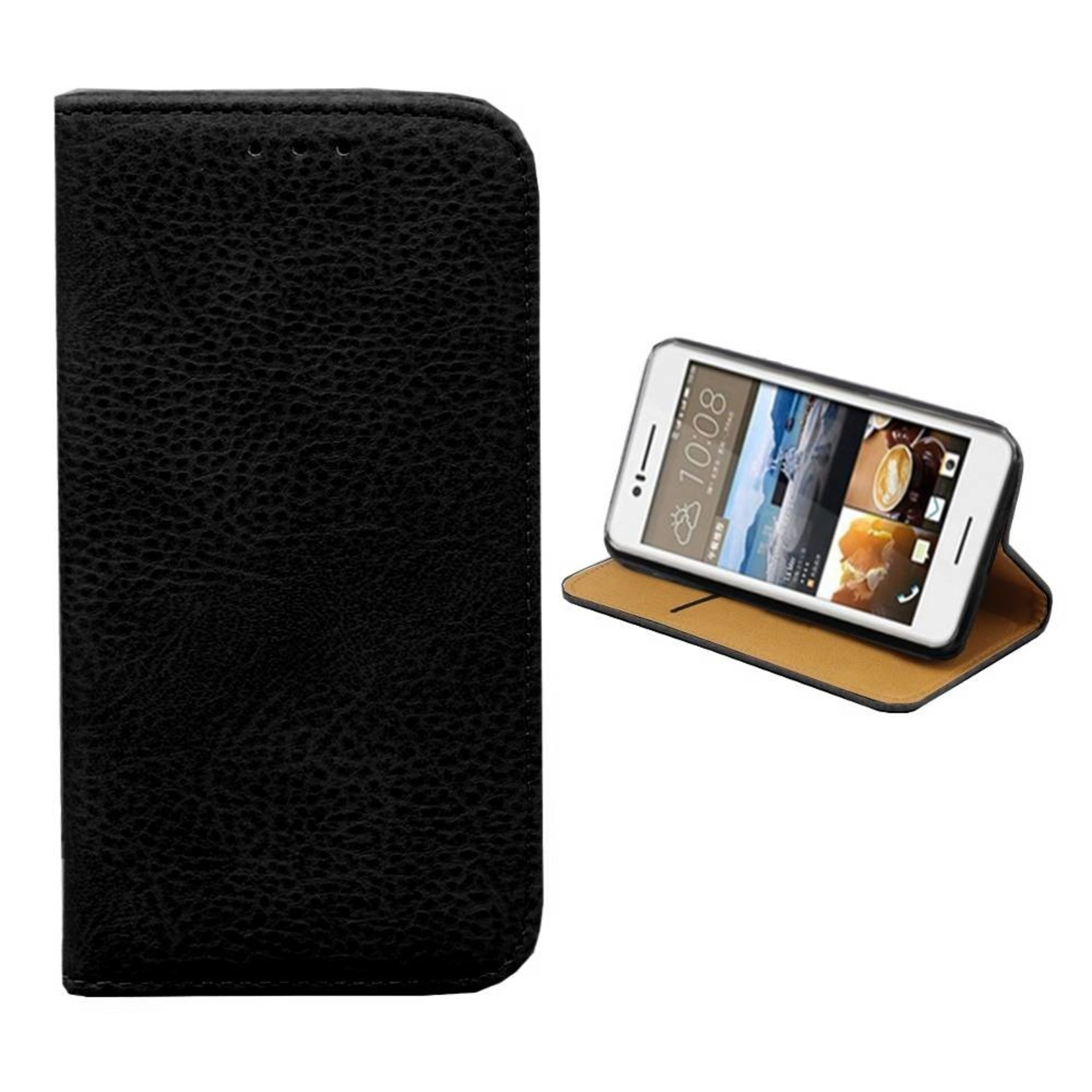 Colorfone Hoesje Book voor HTC Desire 728 Zwart