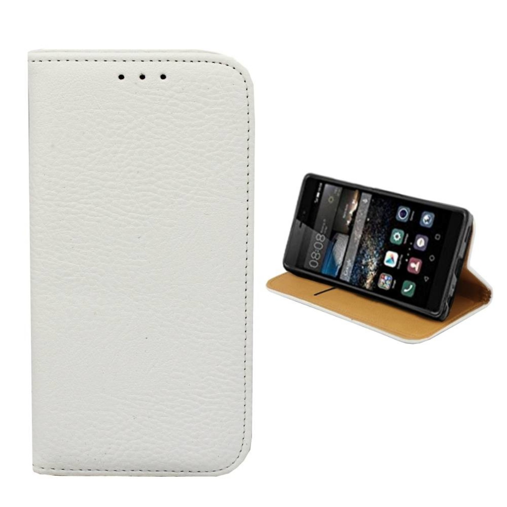Colorfone Hoesje Book voor Huawei P9 Wit
