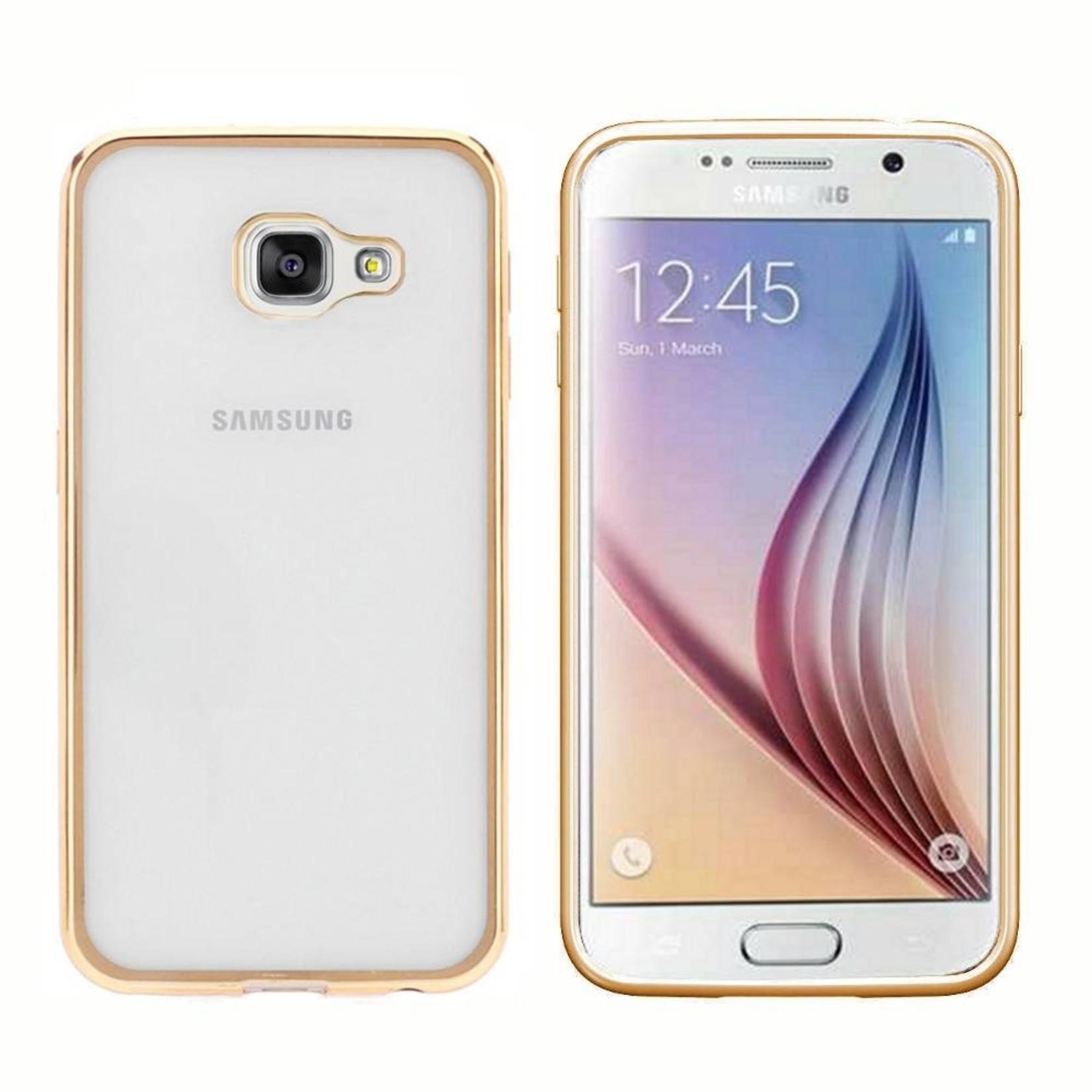 Colorfone Hoesje CoolSkin Bumper Clear Samsung A7 2016 Goud