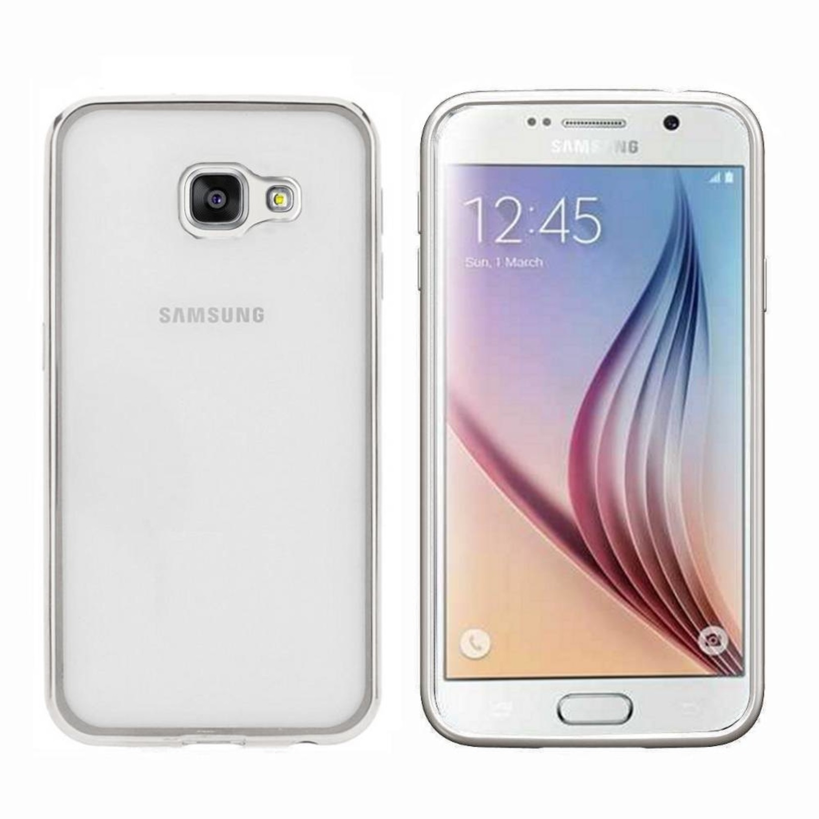 Colorfone Hoesje CoolSkin Bumper Clear Samsung A7 2016 Zilver