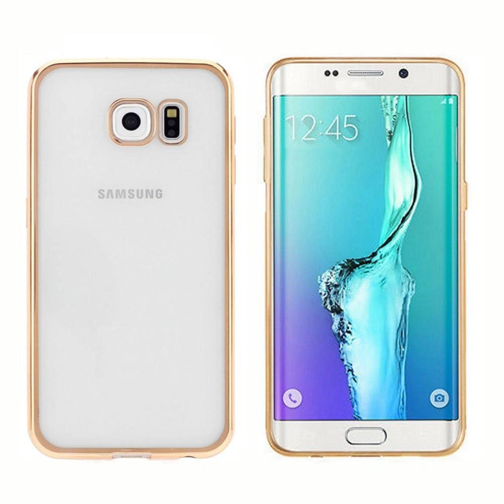 Colorfone Hoesje CoolSkin Bumper Clear Samsung Galaxy S6 Edge Plus Goud