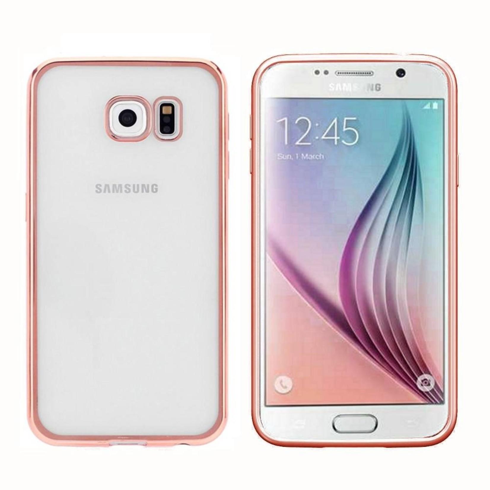 Colorfone Hoesje CoolSkin Bumper Clear Samsung Galaxy S7 Edge Rosé Goud