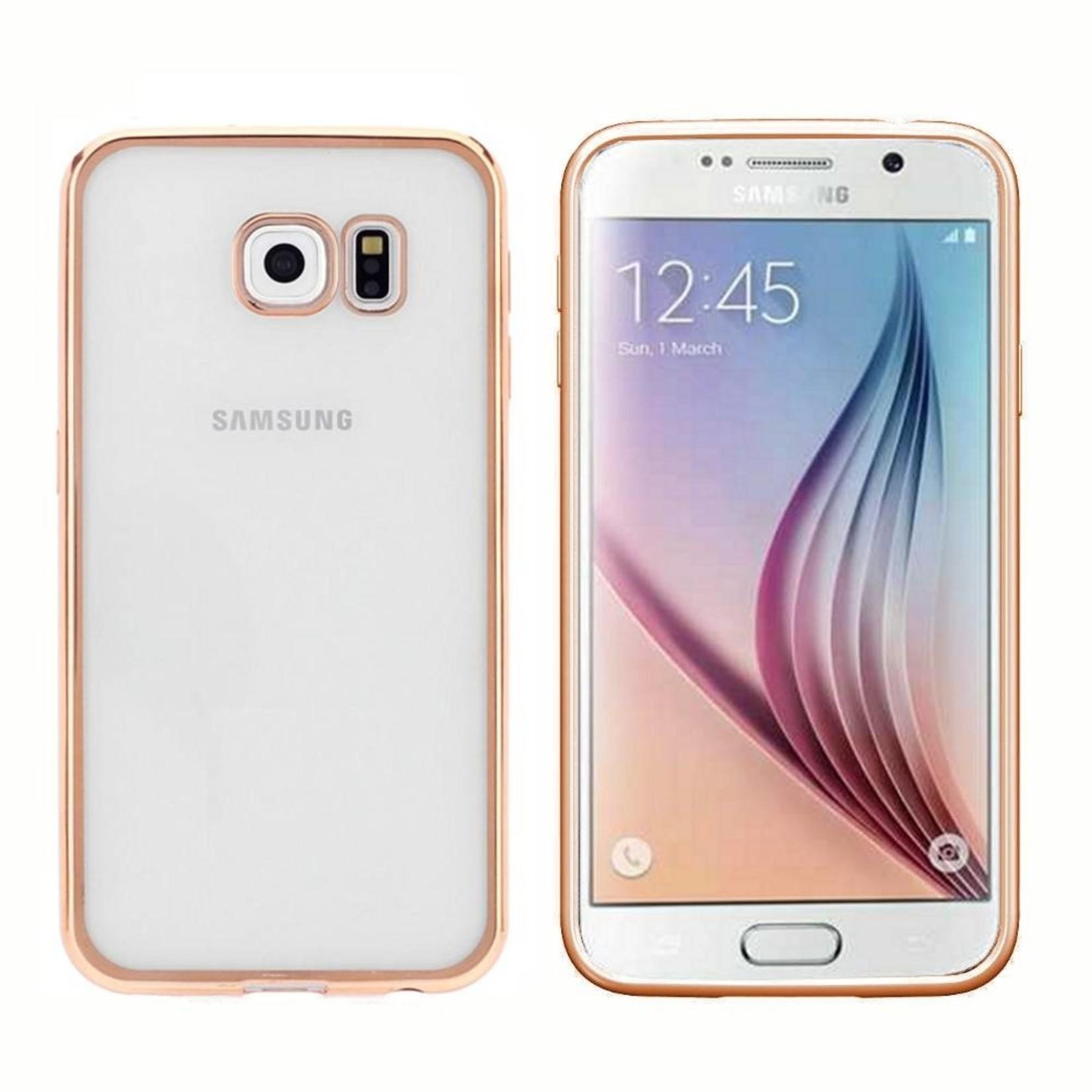 Colorfone Hoesje CoolSkin Bumper Clear Samsung Galaxy S7 Edge Goud