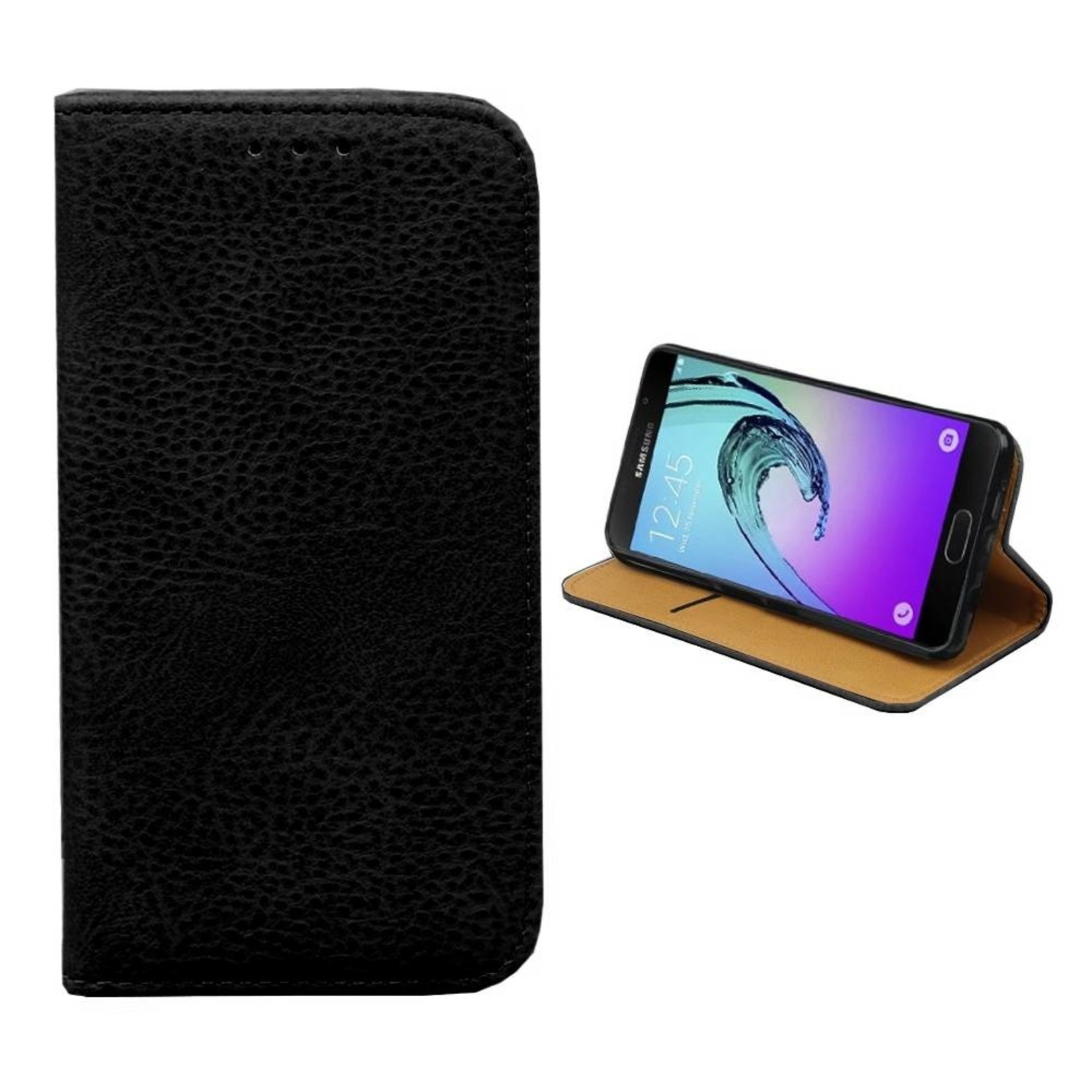 Colorfone Hoesje Book voor Samsung A7 2016 Zwart