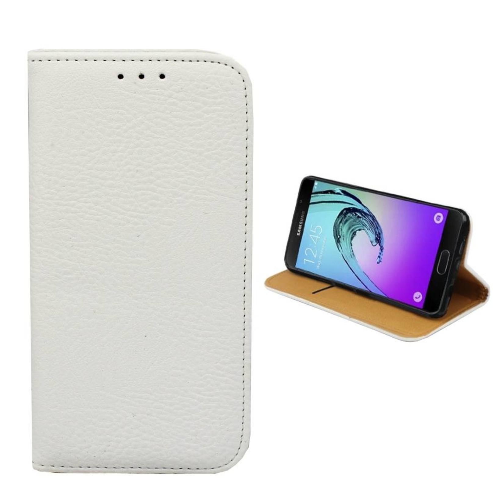 Colorfone Hoesje Book voor Samsung J1 2016 Wit