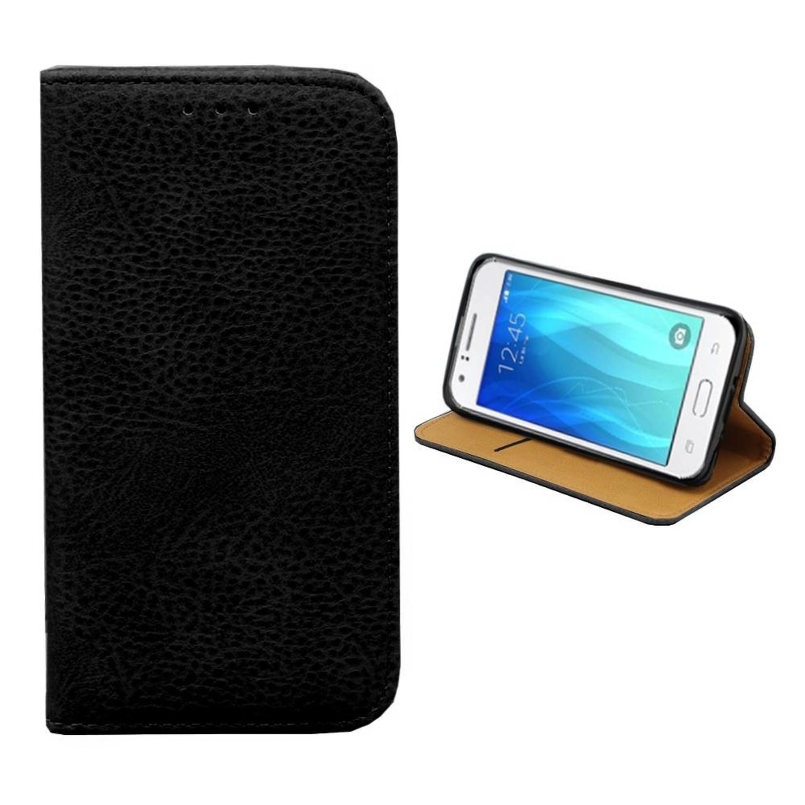 Colorfone Hoesje Book voor Samsung Galaxy J1 Ace Zwart