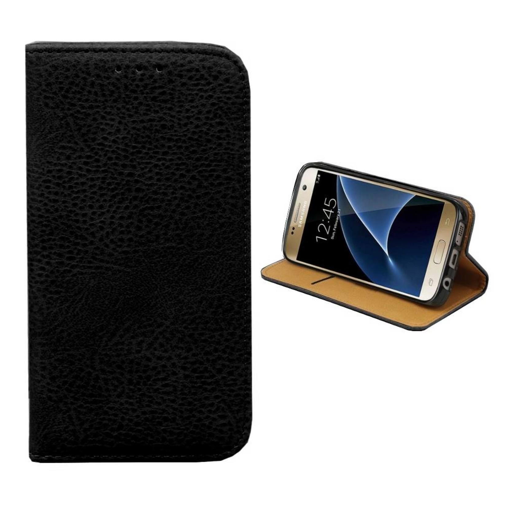 Colorfone Hoesje Book voor Samsung Galaxy S6 Edge Plus Zwart