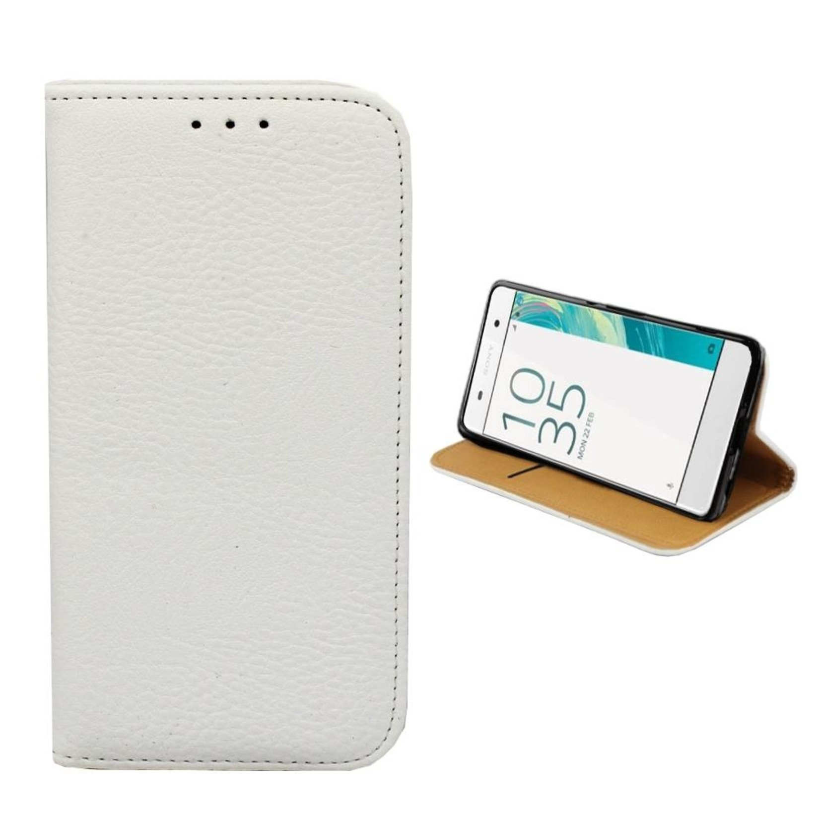 Colorfone Hoesje Book voor Sony Xperia X Wit