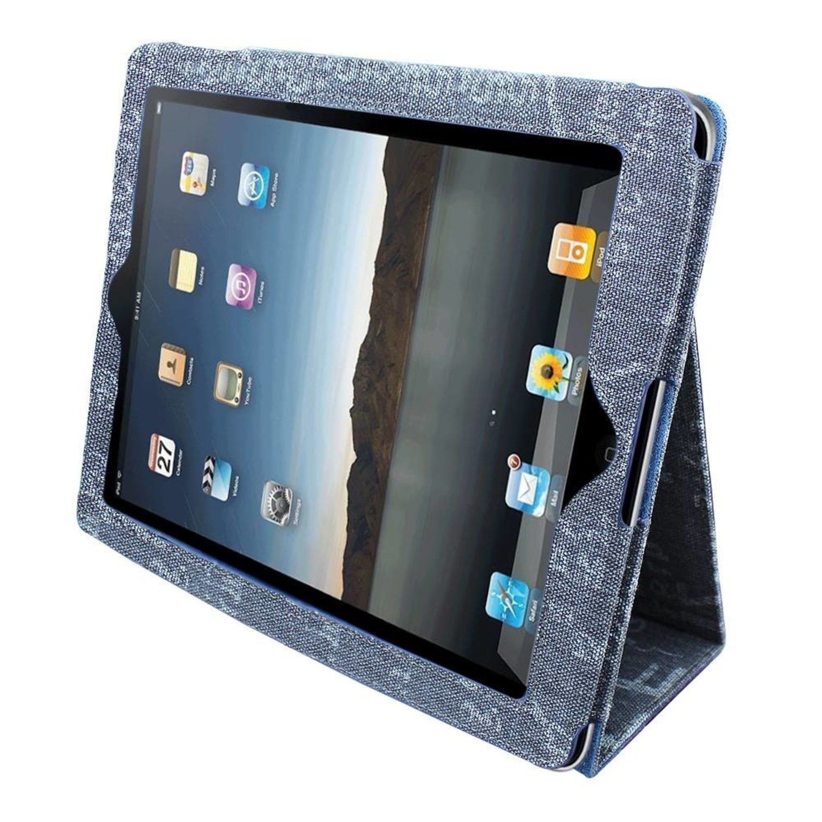 Colorfone Hoesje Business Color Apple iPad 2 (3/4) Denim Blauw #2