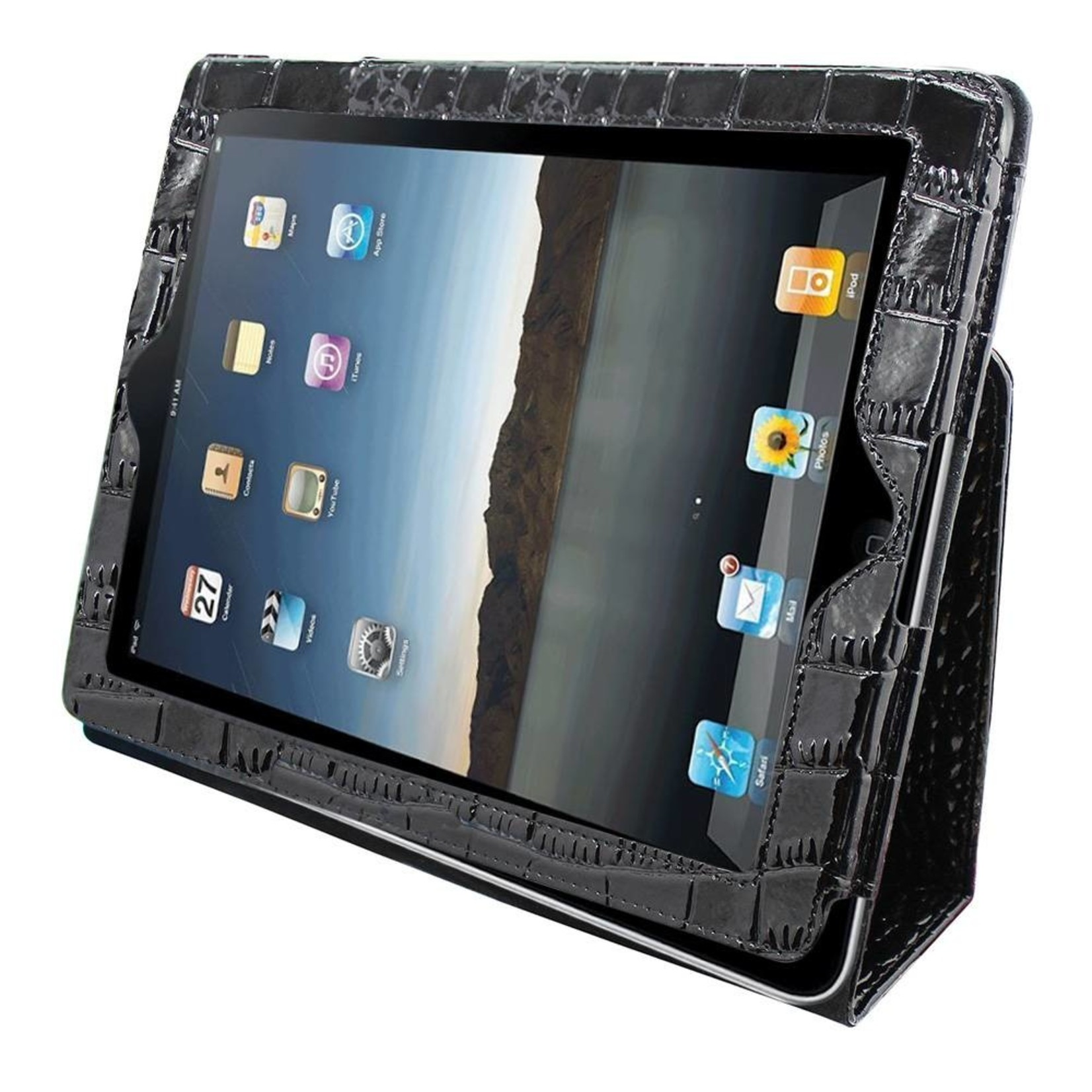 Colorfone Hoesje Business Color Apple iPad 2 (3/4) Krokodil Zwart