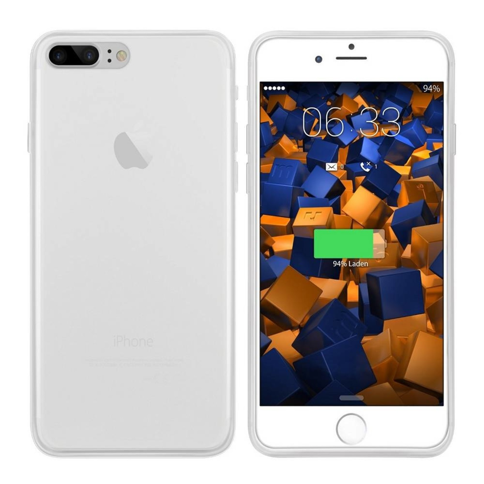 Colorfone Hoesje CoolSkin3T voor Apple iPhone 8 Plus/7 Plus Tr. Wit