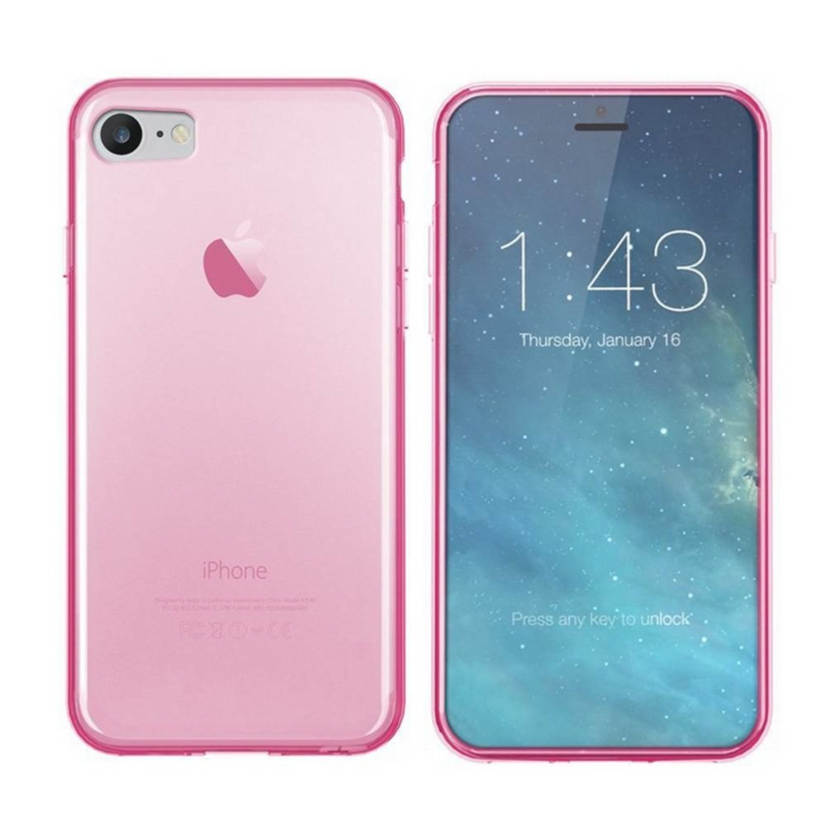 Colorfone Hoesje CoolSkin3T voor Apple iPhone 8/7 Tr. Roze
