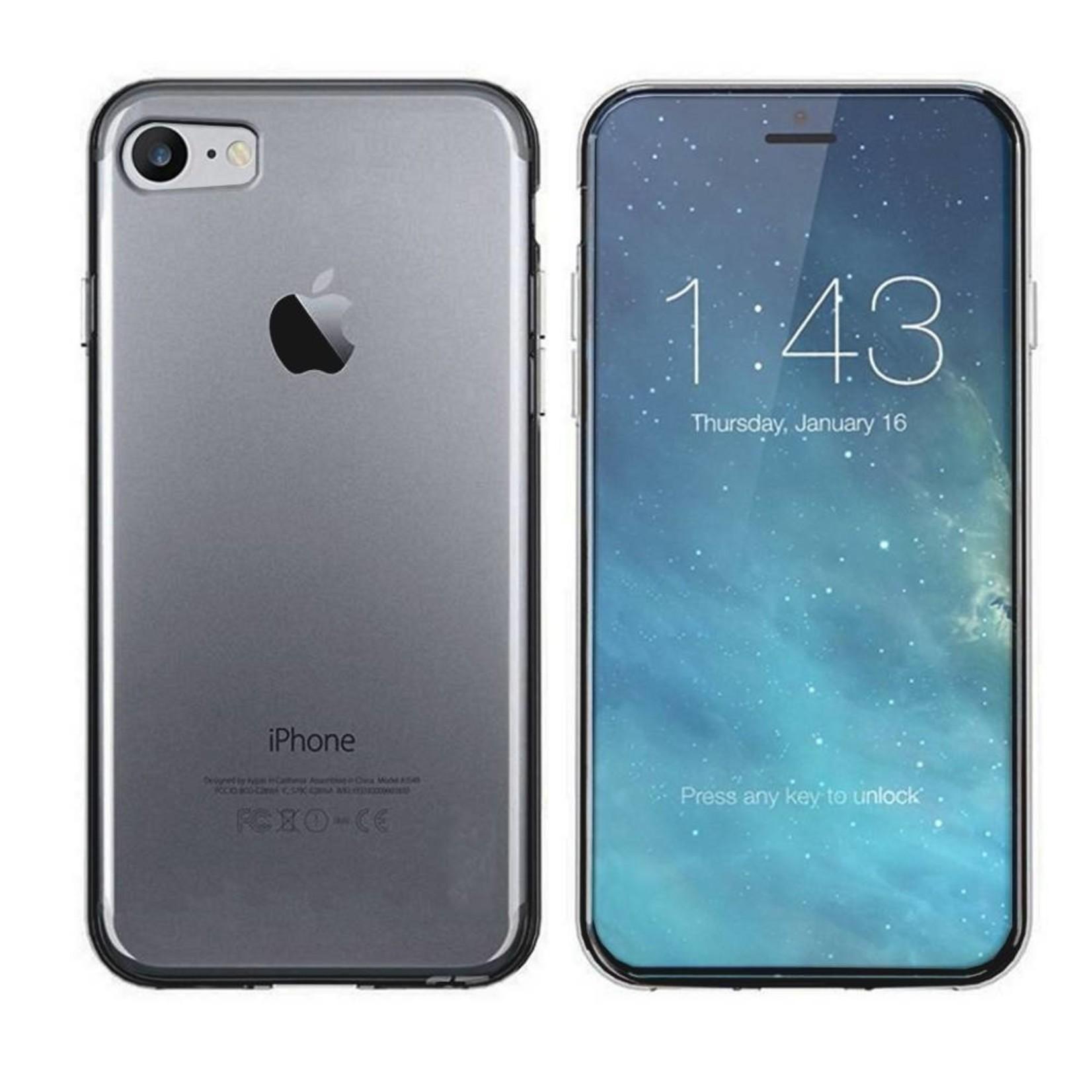 Colorfone Hoesje CoolSkin3T voor Apple iPhone 8/7 Tr. Zwart