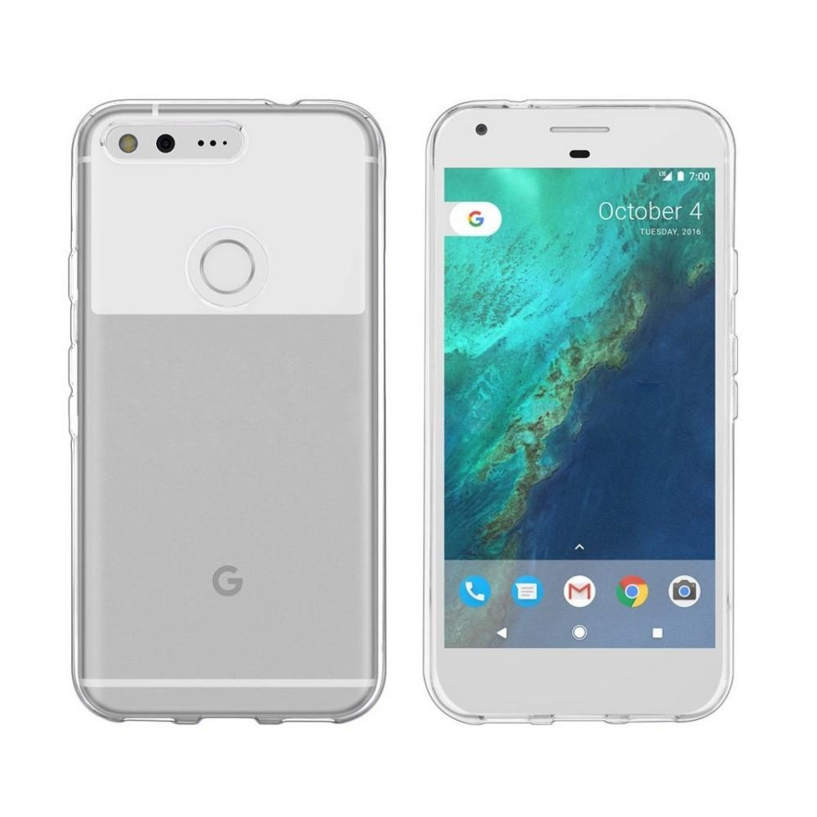 Colorfone Hoesje CoolSkin3T voor Google Pixel XL Tr. Wit