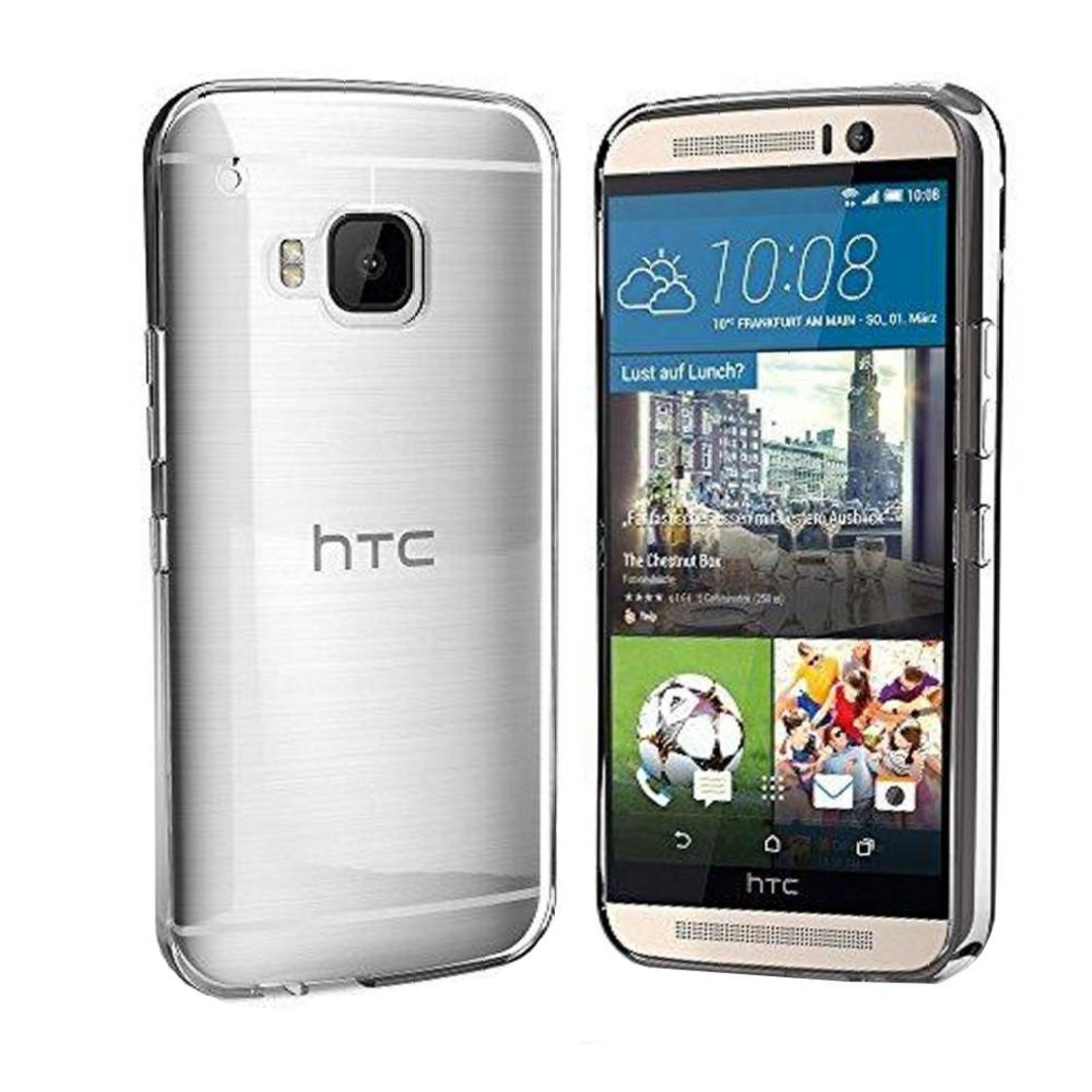 Colorfone Hoesje CoolSkin3T voor HTC One S9 Tr. Wit