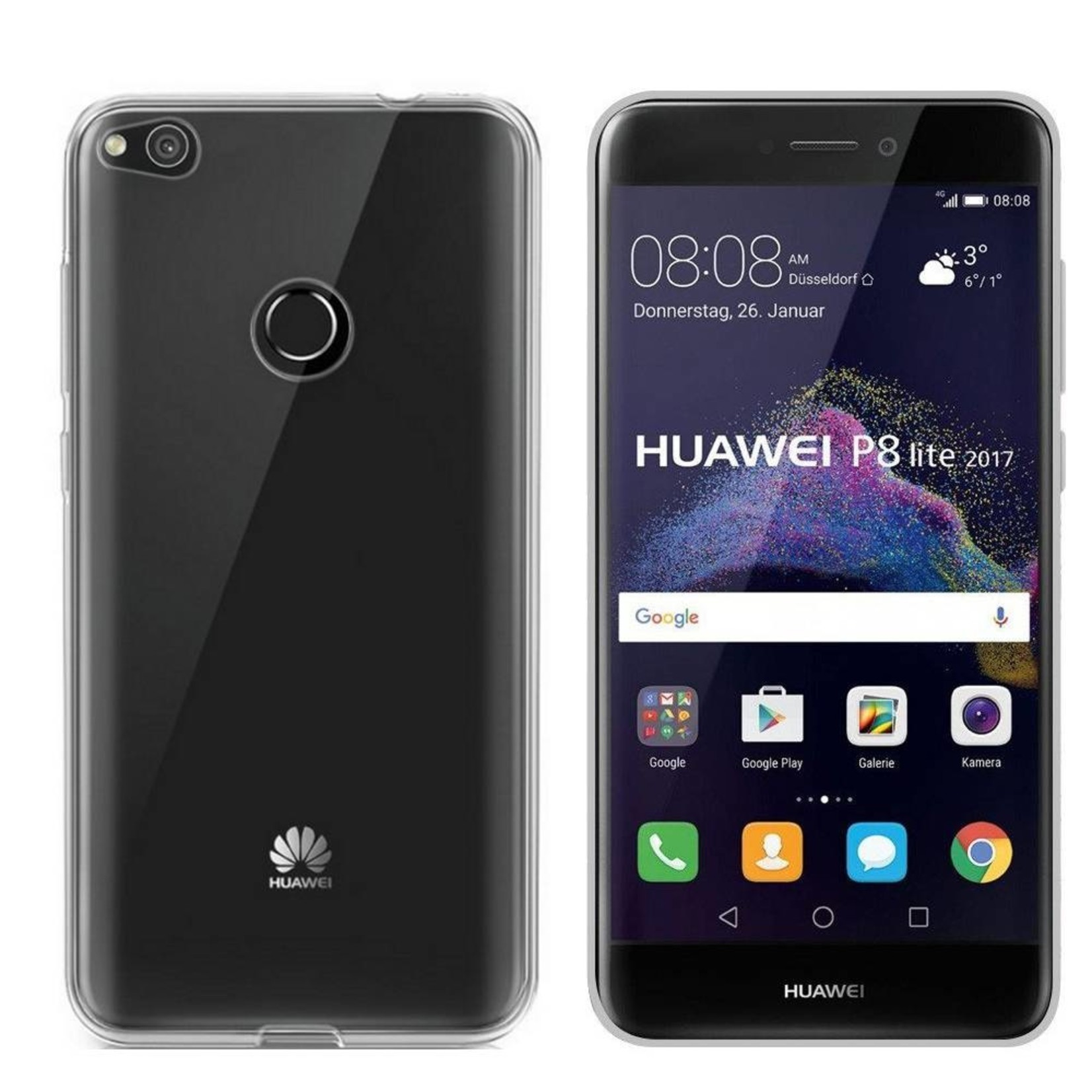 Colorfone Hoesje CoolSkin3T voor Huawei P8 Lite 2017 Tr. Wit