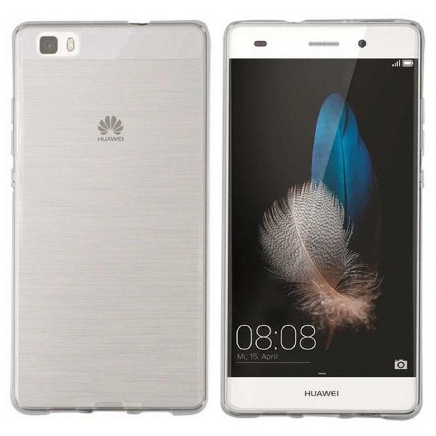 Colorfone Hoesje CoolSkin3T voor Huawei P8 Lite Tr. Wit