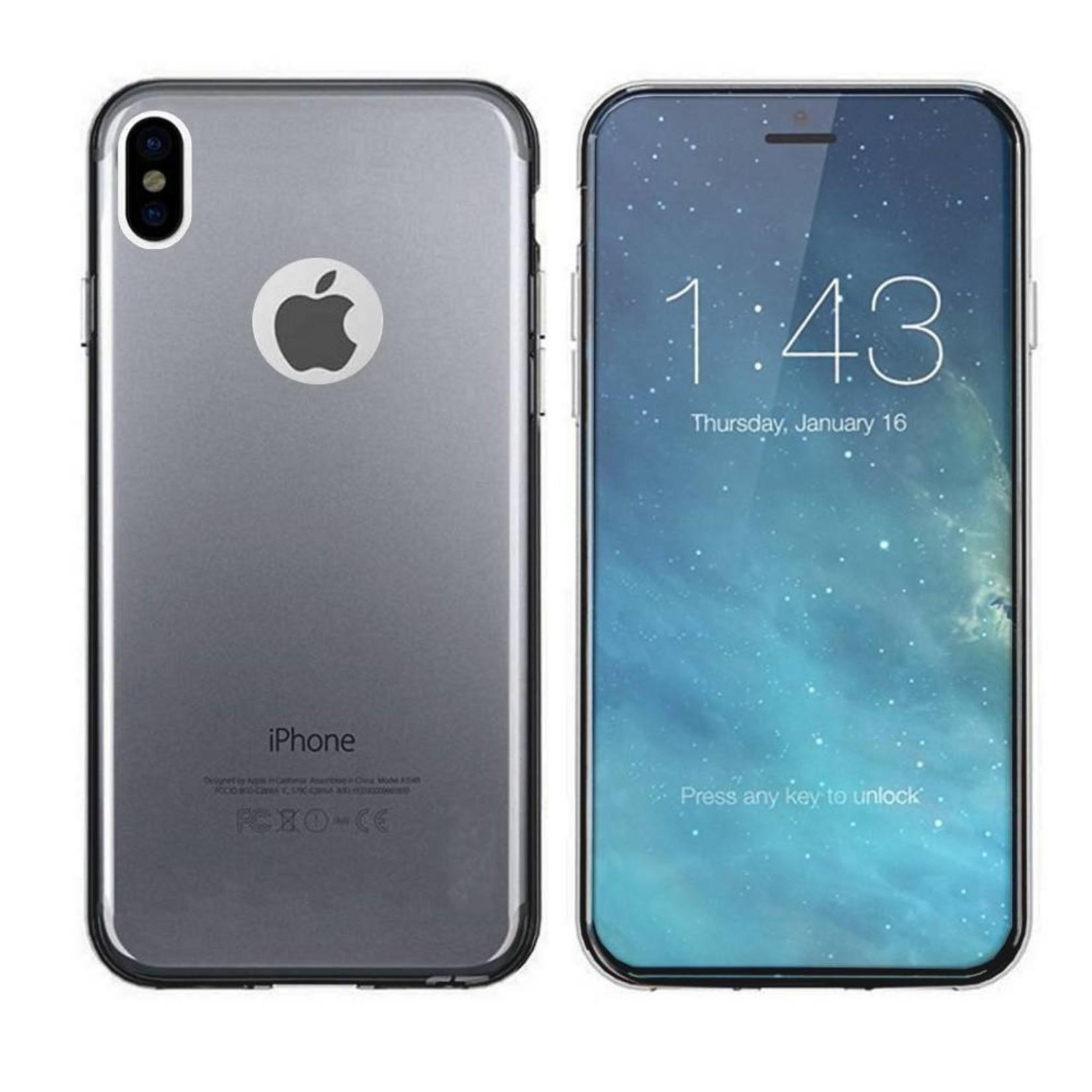 Colorfone Hoesje CoolSkin3T voor Apple iPhone X/Xs Tr. Zwart