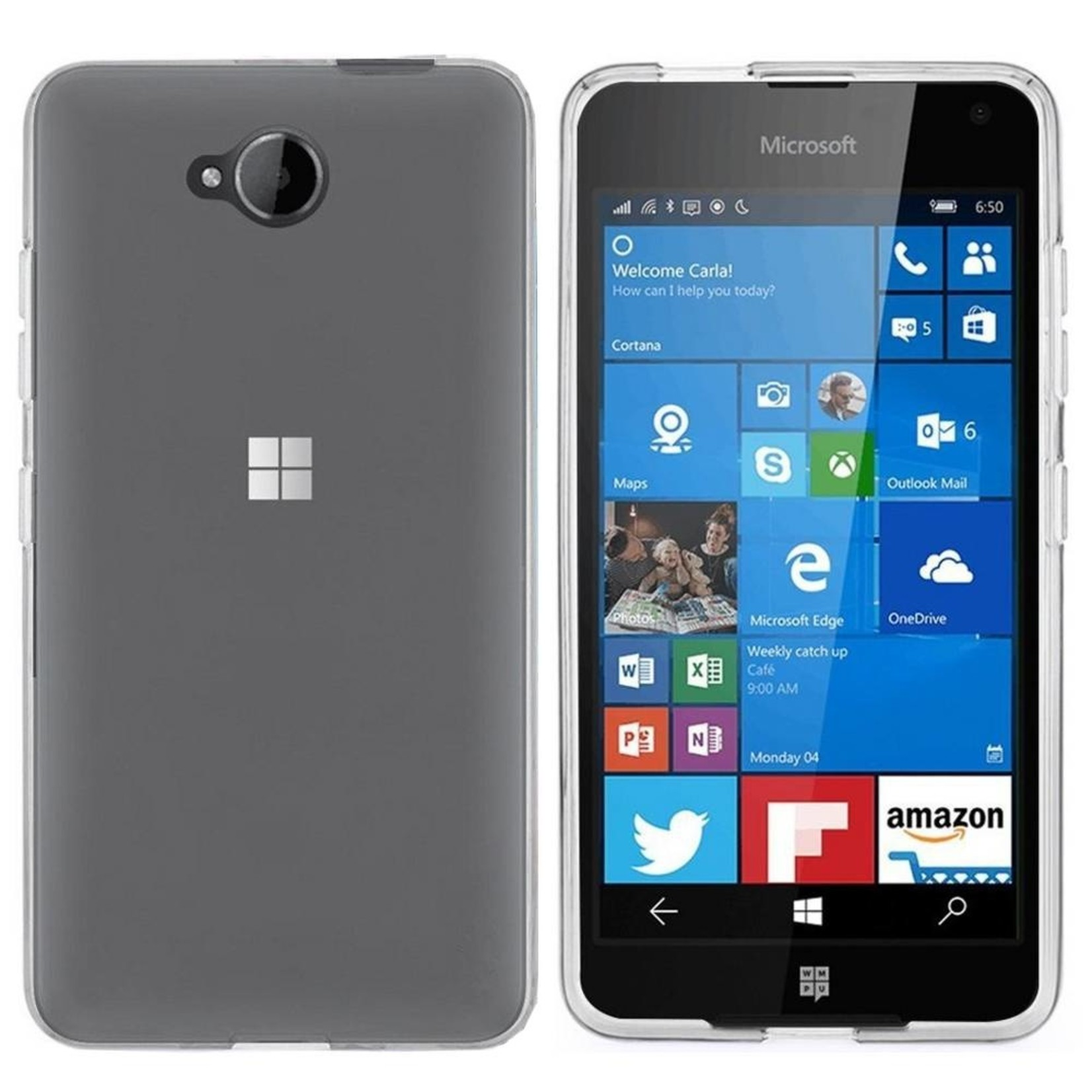 Colorfone Hoesje CoolSkin3T voor Microsoft Lumia 650 Tr. Wit