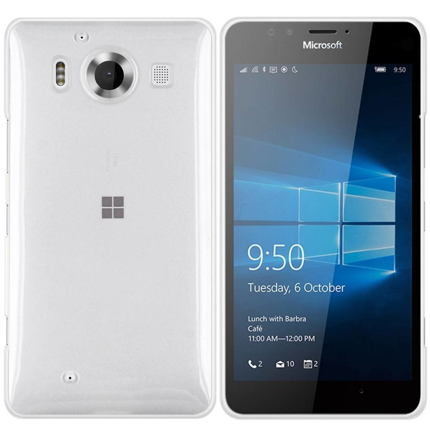 Colorfone Hoesje CoolSkin3T voor Microsoft Lumia 950 Tr. Wit