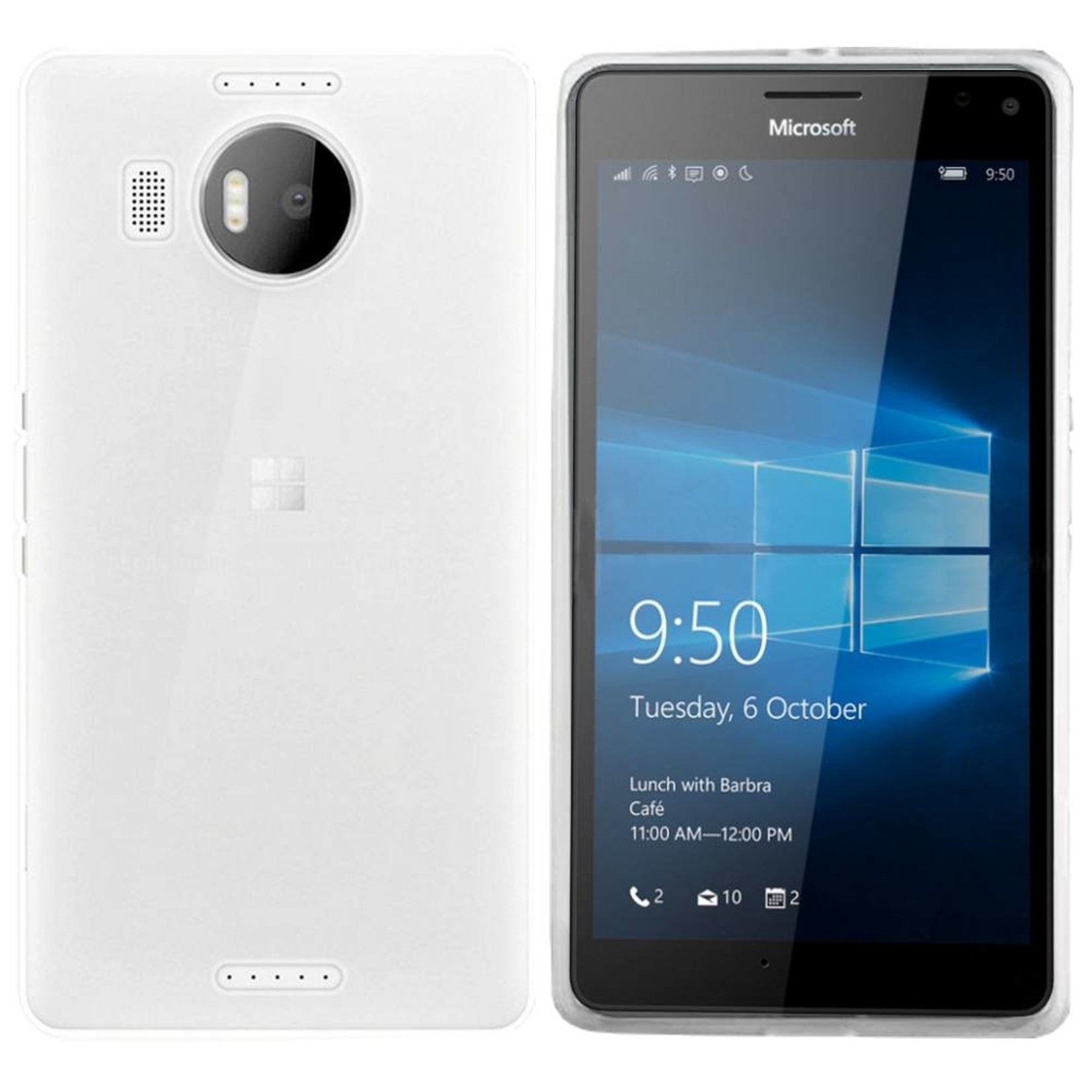 Colorfone Hoesje CoolSkin3T voor Microsoft Lumia 950 XL Tr. Wit