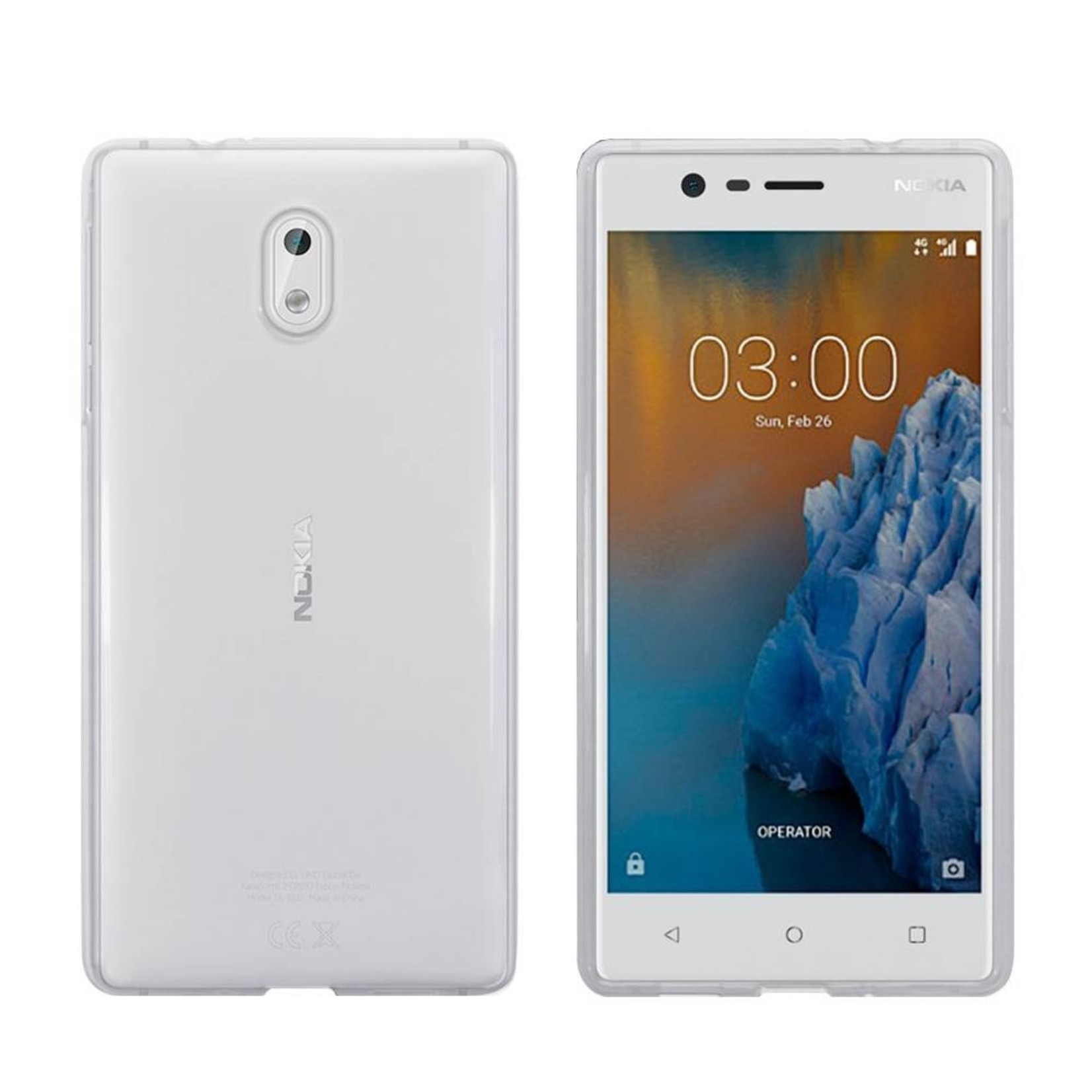 Colorfone Hoesje CoolSkin3T voor Nokia 3 Tr. Wit