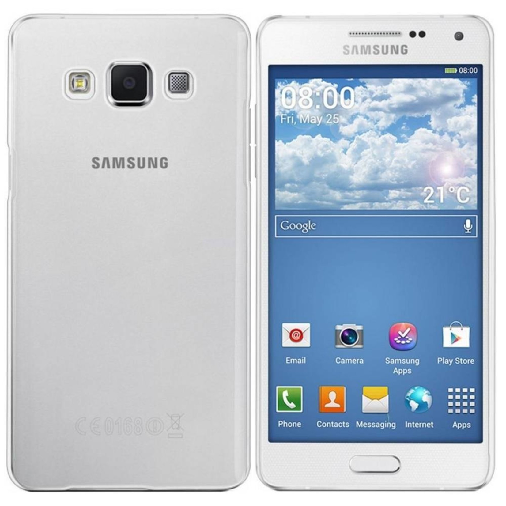 Colorfone Hoesje CoolSkin3T voor Samsung J1 2016 Transparant Wit