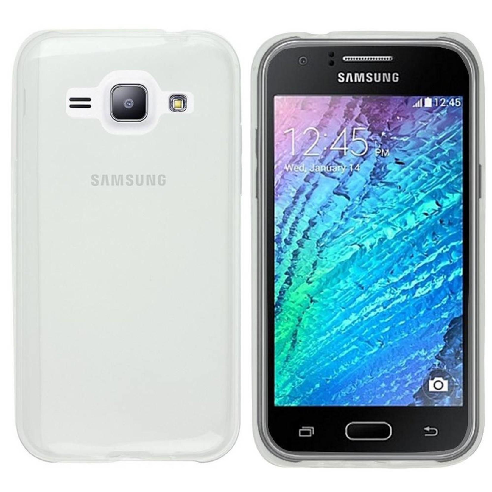 Colorfone Hoesje CoolSkin3T voor Samsung J1 Transparant Wit