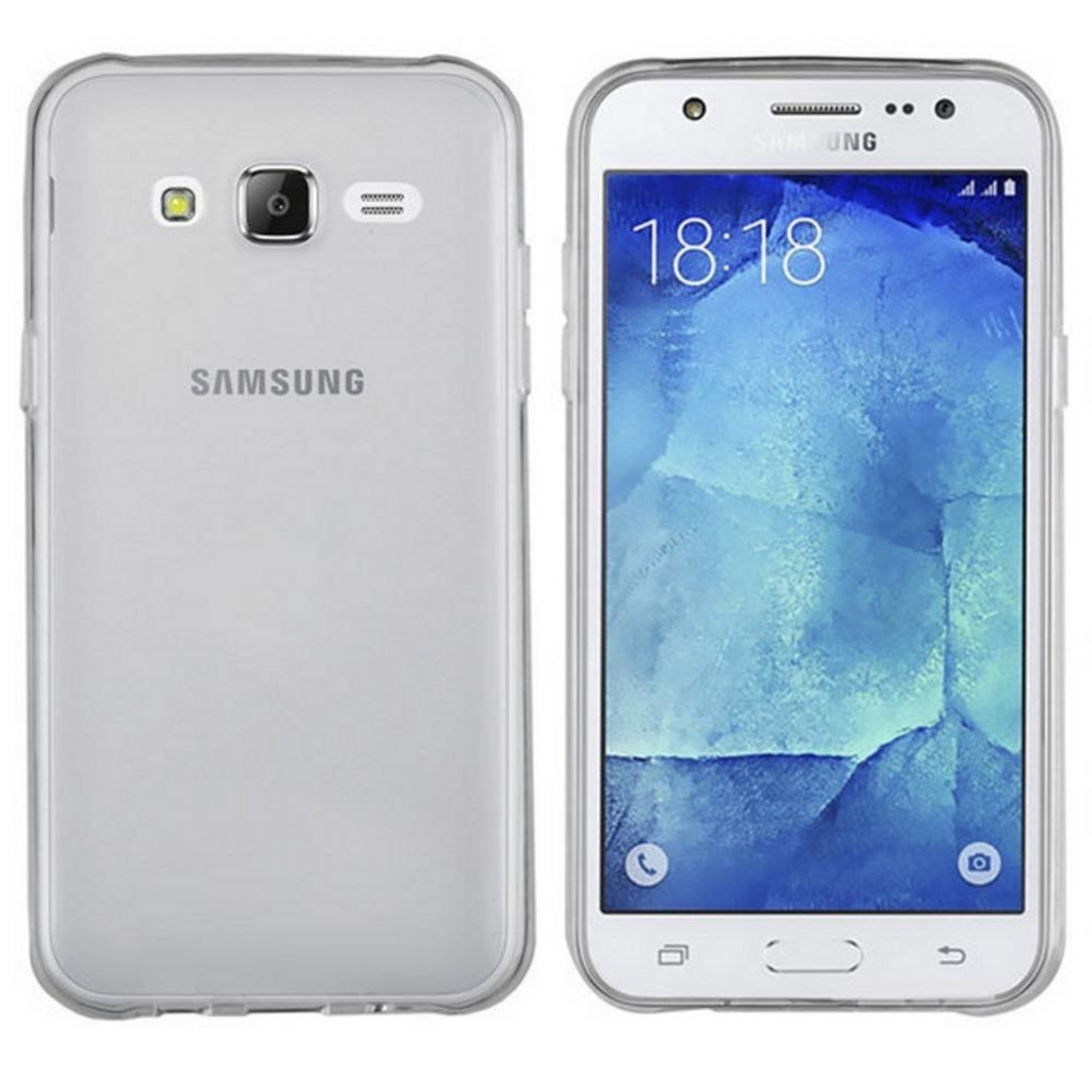 Colorfone Hoesje CoolSkin3T voor Samsung J7 Duos Transparant Wit