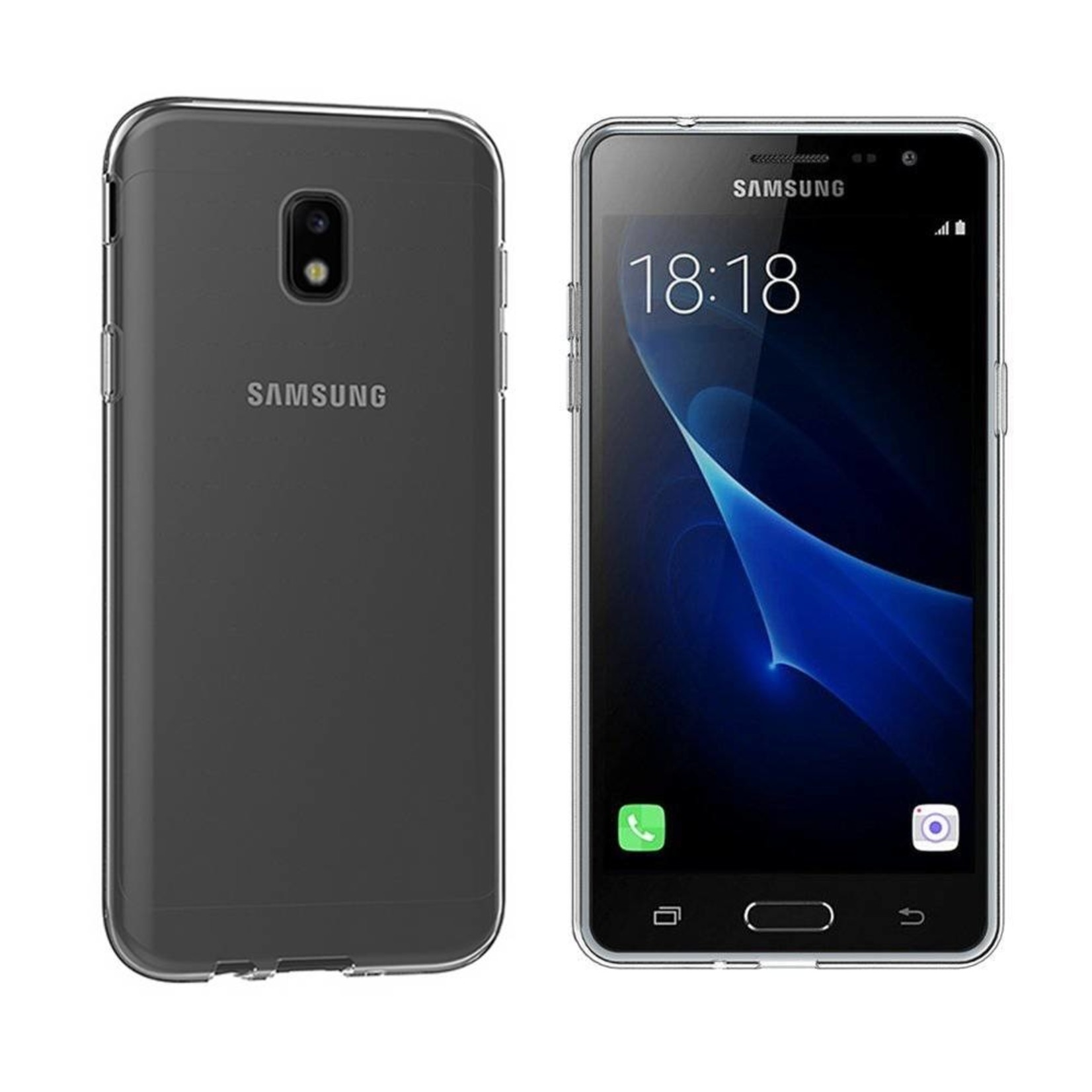 Colorfone Hoesje CoolSkin3T voor Samsung Galaxy J3 2017 Tr. Wit