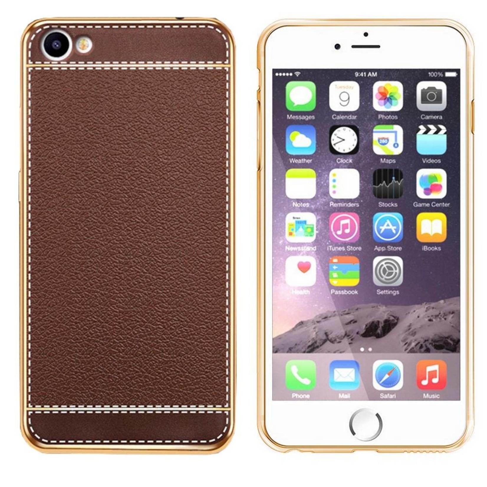 Colorfone CoolSkin Leather voor iPhone 8/7 Bruin