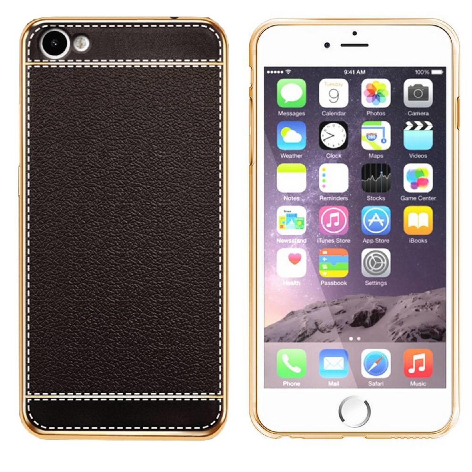 Colorfone CoolSkin Leather voor iPhone 8 Plus/7 Plus Zwart