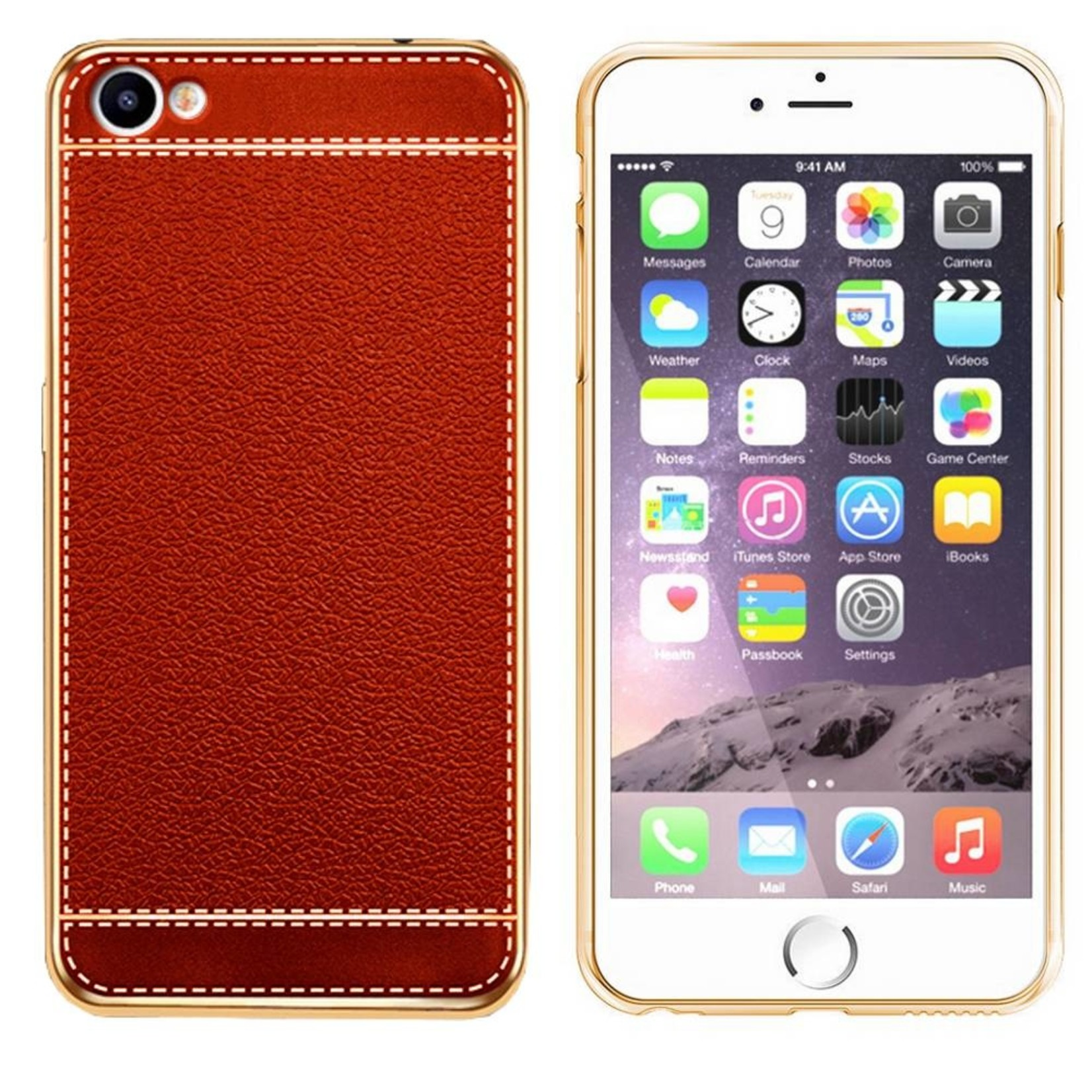 Colorfone CoolSkin Leather voor iPhone 8/7 Rood