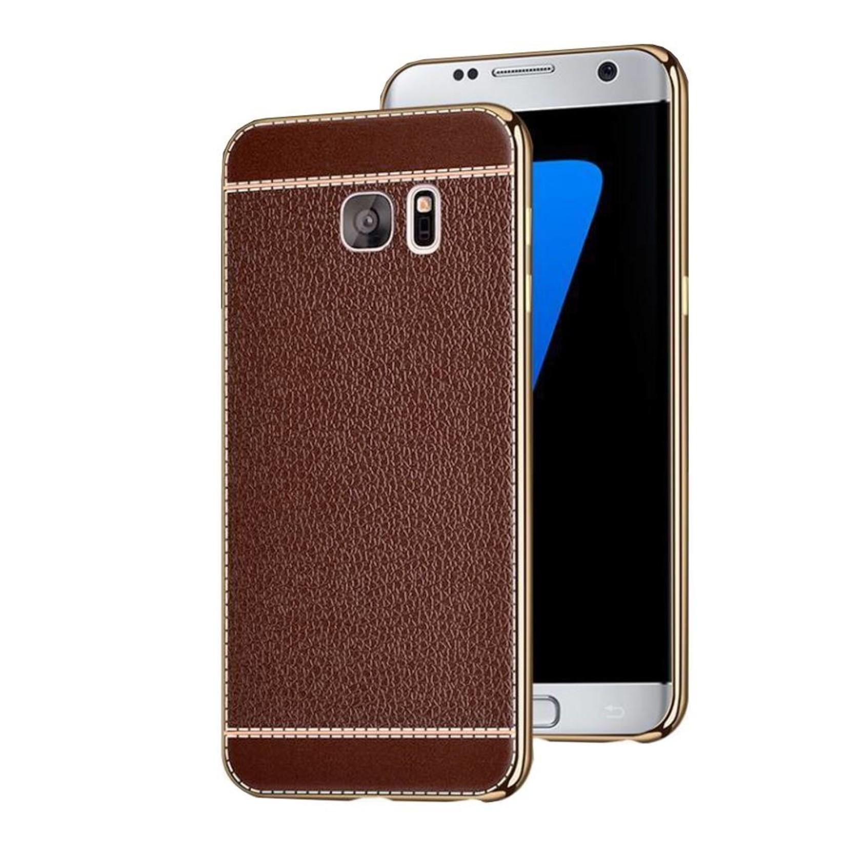 Colorfone CoolSkin Leather voor Samsung S7 Bruin