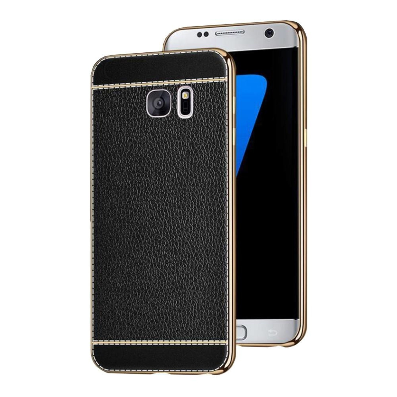 Colorfone CoolSkin Leather voor Samsung S7 Edge Zwart
