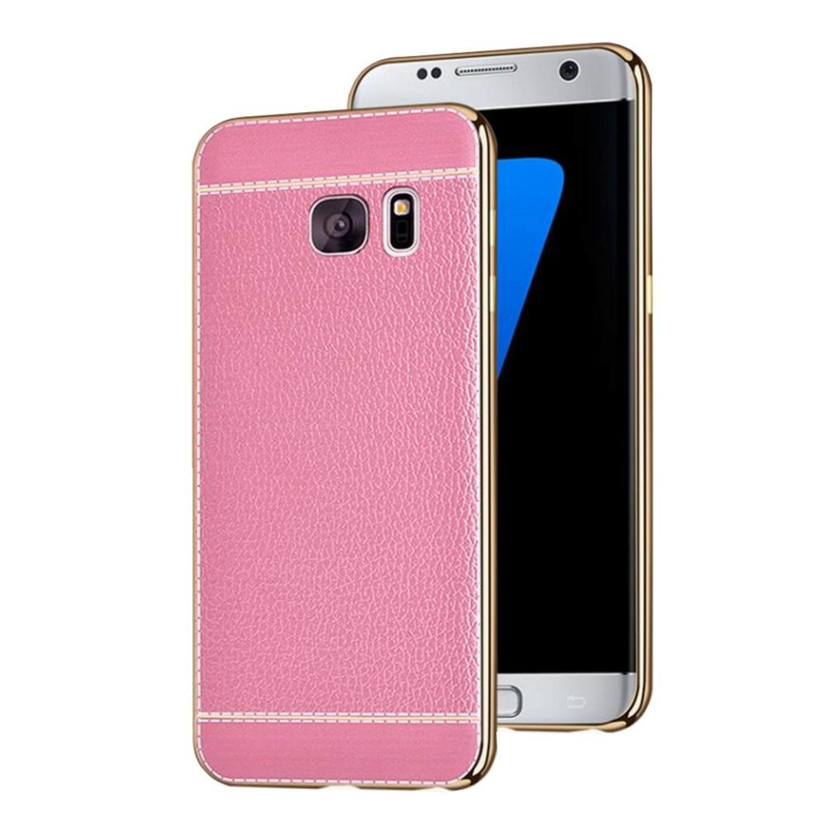 Colorfone CoolSkin Leather voor Samsung S7 Roze