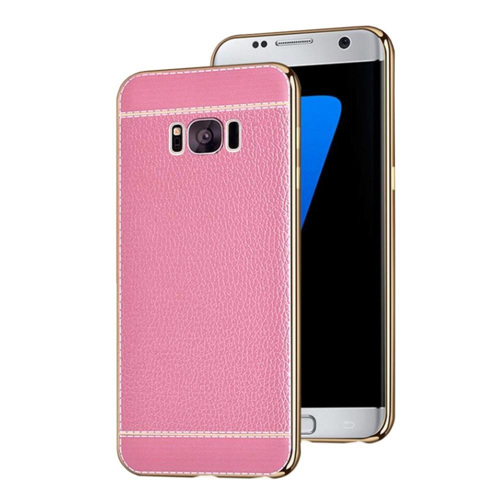 Colorfone CoolSkin Leather voor Samsung S8 Plus Roze