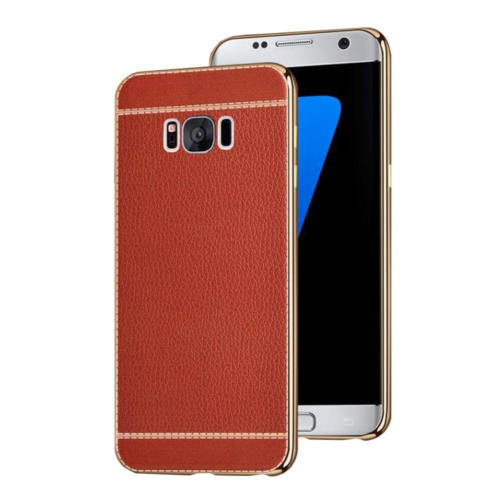 Colorfone CoolSkin Leather voor Samsung S8 Rood