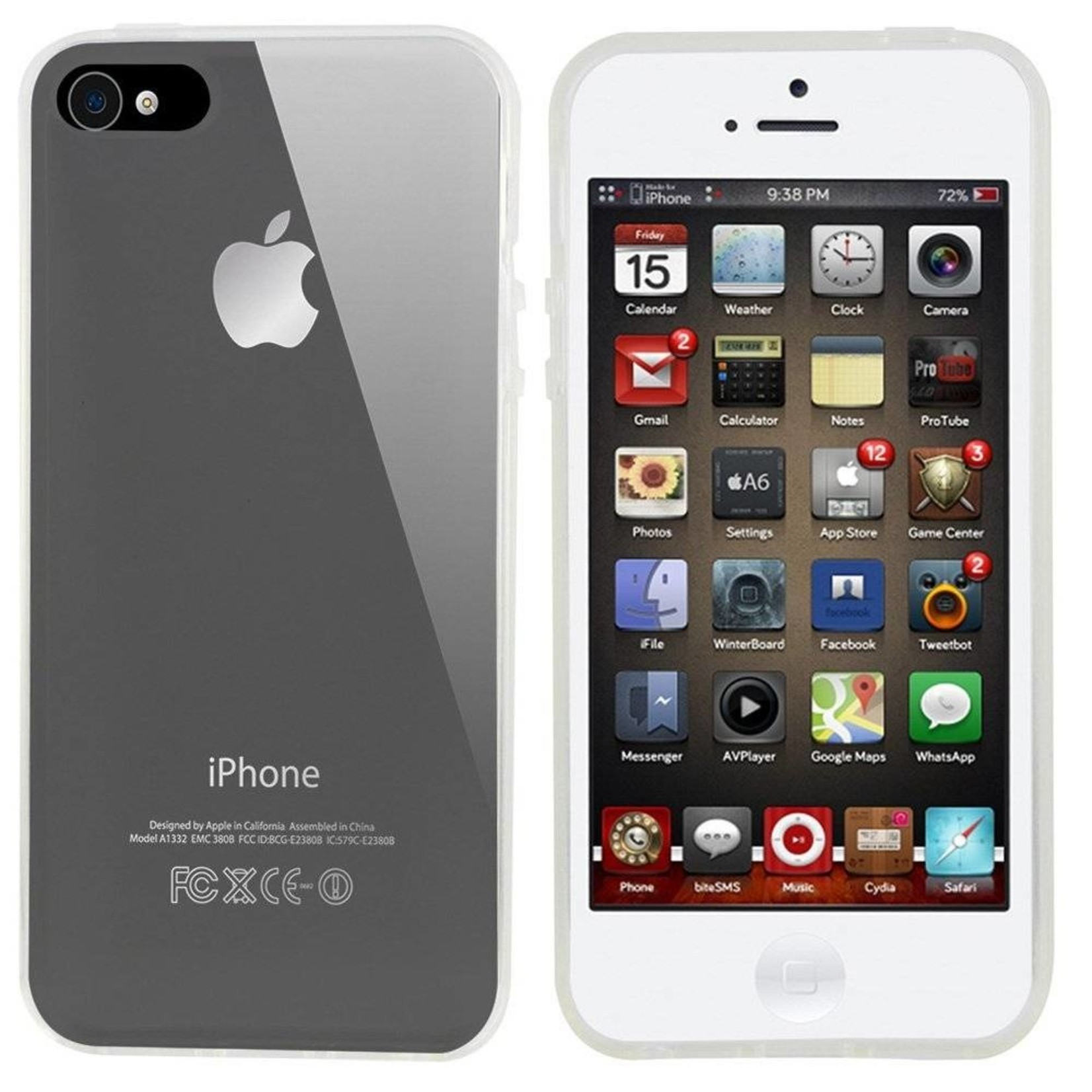 Colorfone Hoesje CoolSkin3T voor Apple iPhone 4/4S Transparant Wit